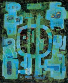 Ország Lili - Zöld és kék kompozíció