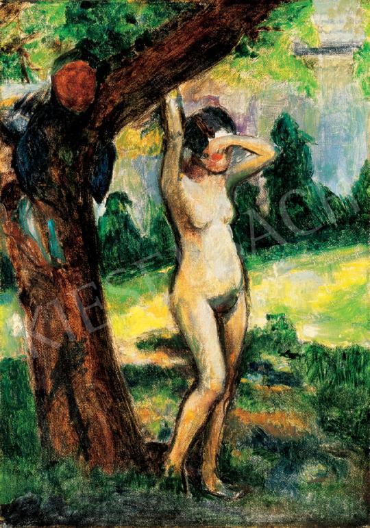 Kernstok Károly - Akt fa alatt | 31. Aukció aukció / 191 tétel
