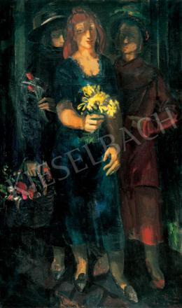 Duray Tibor - Hölgyek virággal, 1940-es évek