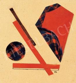 Kassák Lajos - Kompozíció (Vörös formák), 1930