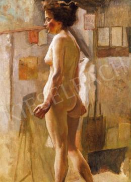 Hollósy, Simon - Nude in the Studio, 1889