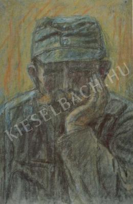 Nagy István - Könyöklő katona (1918 körül)