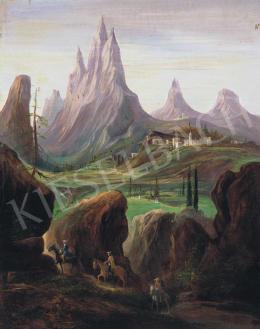 Molnár C. Pál - Itáliai táj vándorokkal