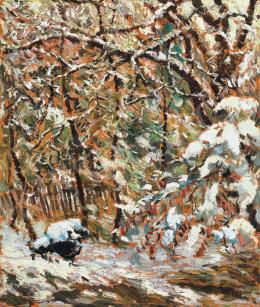 Paál, Albert - Winter in Nagybánya,  1924
