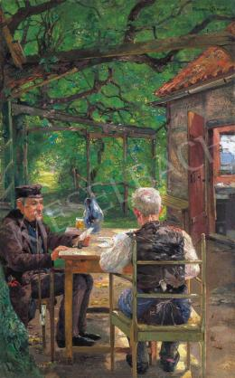 Fischer-Cörlin, Ernst Albert - Card Players in the Arbour