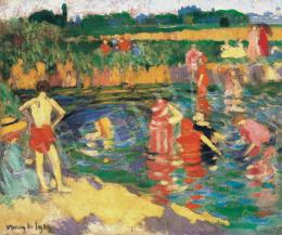 Vaszary, János - Bathing in the Open Air (Fényesfürdő in Tata), 1909