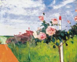Kléh János - Szolnoki kert rózsafával