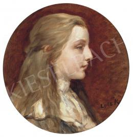 Lotz, Károly - Blond Girl in White Blouse (Portrait of Ilonka Sándor)