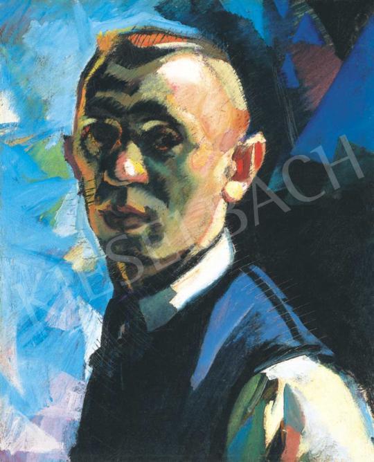 Tipary Dezső - Férfiportré, 1918 - 22 körül | 32. Aukció aukció / 62 tétel