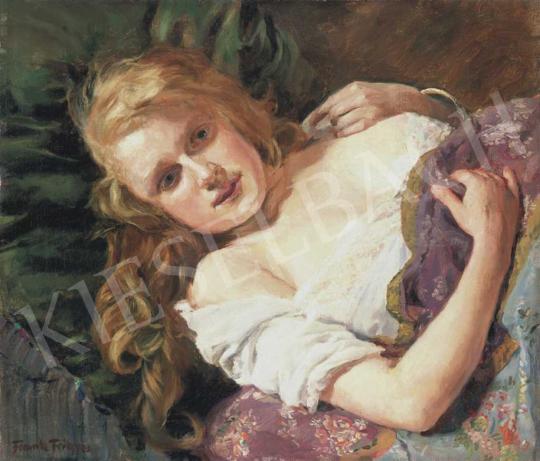 Frank Frigyes - Szőke lány | 32. Aukció aukció / 67 tétel