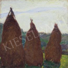 Hollósy, Simon - Three Haystacks