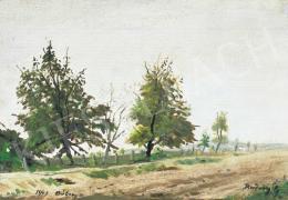 Rudnay, Gyula - Bábony Landscape with Trees, 1943