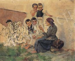 László, Fülöp - Children, 1891