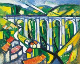 Bertalan, Albert - Landscape with Viaduct