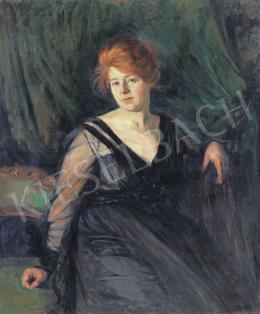Heller Ödön - Vörös hajú nő