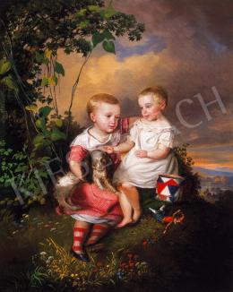 Sterio Károly - Gyermekek kiskutyával