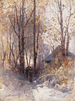 Mészöly Géza - Alkonyi erdő