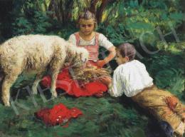 Glatz Oszkár - Gyerekek báránnyal