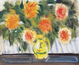 Márffy, Ödön - Flower Still-Life (Dahlias)