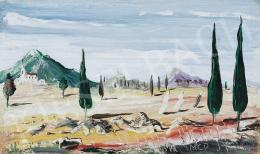 Molnár C., Pál - Landscape with Cypresses