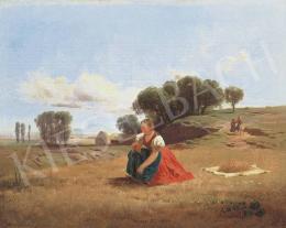 Markó Ferenc - Nyár a mezőn, 1863