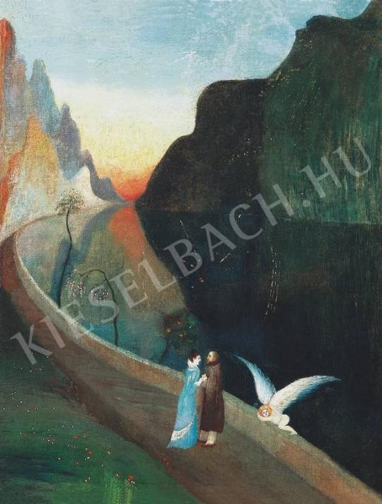 Csontváry Kosztka Tivadar - A szerelmesek találkozása (Randevú)   33. Aukció aukció / 46 tétel