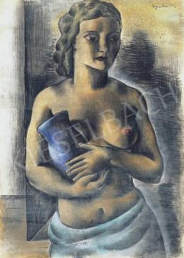 Bene, Géza - Girl with a Blue Jug, 1933