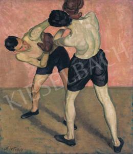 Szirt Oszkár - Bokszolók, 1914