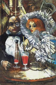 Remsey Jenő György - Párizsi kávéházban | 33. Aukció aukció / 98 tétel