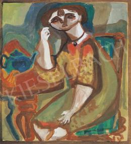 Anna, Margit - Self-Portrait with Medallion, around 1940-42