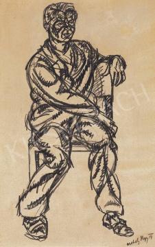 Moholy-Nagy László - Ülő férfi | 33. Aukció aukció / 119 tétel