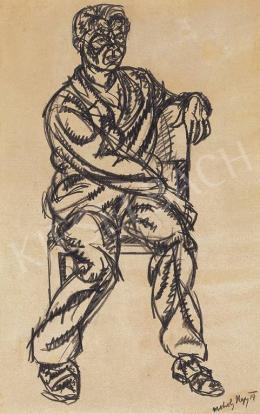 Moholy-Nagy, László - Sitting Man, 1919