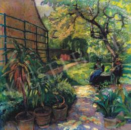 Unknown painter - In the Garden