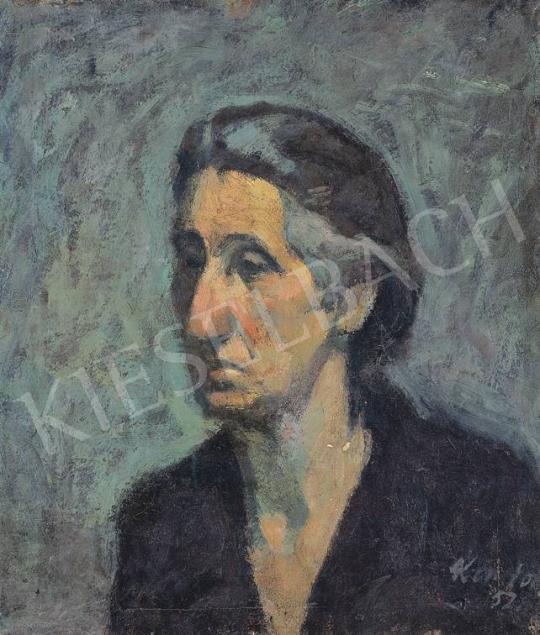 Kondor Béla - Modell zöld háttérrel | 33. Aukció aukció / 160 tétel