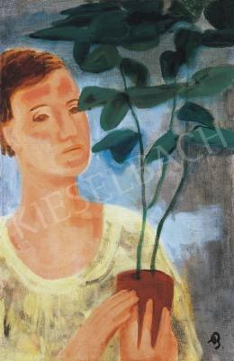Bernáth Aurél - Nő virággal