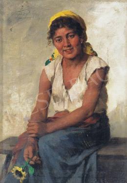 Vastagh György - Lány napraforgóval