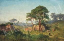 Telepy Károly - Itáliai táj, 1898