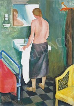 Patkó Károly - Mosakodó nő, 1931