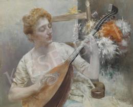 Karlovszky Bertalan - Lány mandolinnal