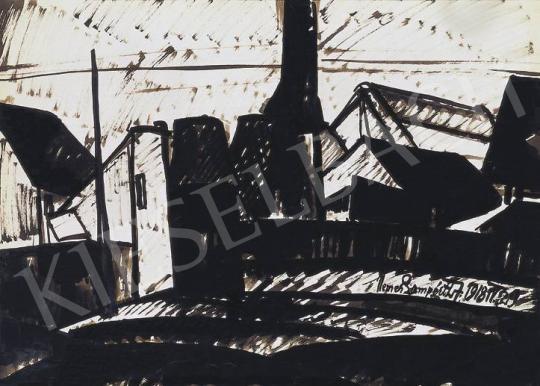 Nemes Lampérth József - Téli város (Gyár), 1918 | 33. Aukció aukció / 227 tétel
