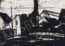 Nemes Lampérth József - Téli város (Gyár), 1918