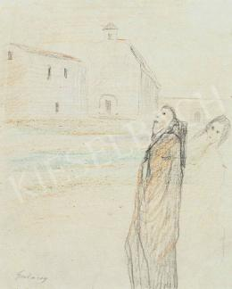 Gulácsy Lajos - Templom előtt