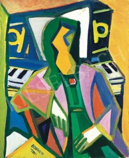 Bertalan, Albert - Picassoesque Model with Piano
