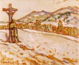 Egry József - Menetelő katonák, 1915-16 körül