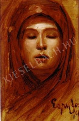 Egry József - Női fej, 1904 körül