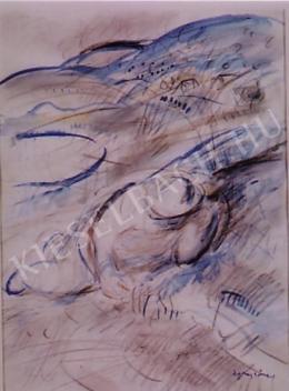 Egry József - Heverő férfi, 1940-es évek