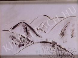 Egry József - Tájkép, 1943