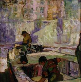 Egry József - Szajnaparti rakodók, 1906