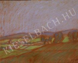 Egry József - Dombos táj, 1914 körül
