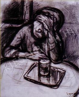 Egry József - A művész édesanyja